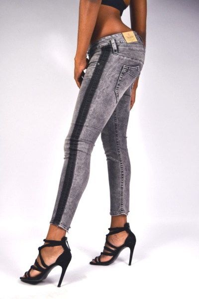 Herrlicher Jeans PITCH Slim Cropped 5303 Black Stripe