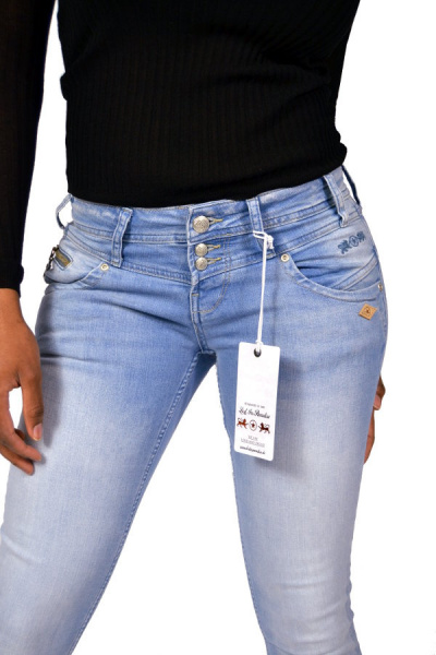 Lost In Paradise 7/8 Jeans KATHY ANKLE Slim Light Blue