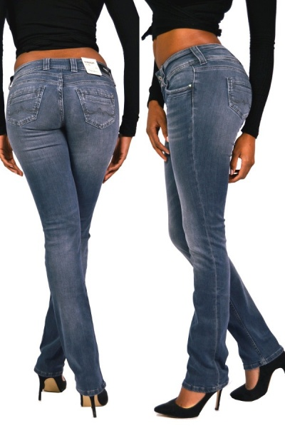 Pepe Jeans GEN WE6 Blau Grau Straight Mid Waist, 98,90 €